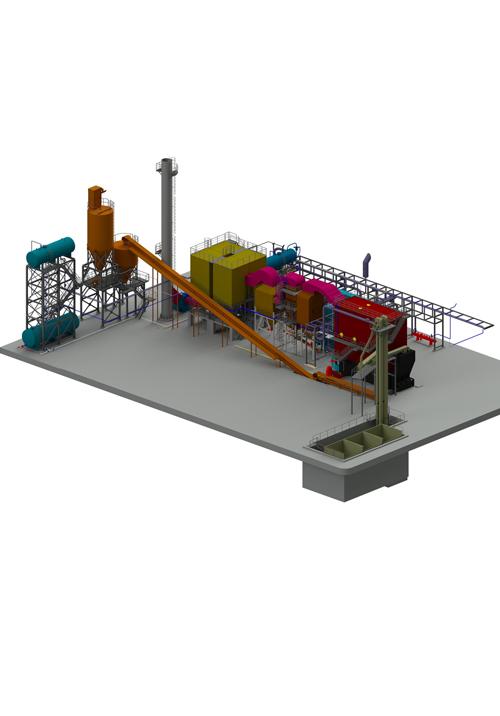 Lò dầu tải nhiệt ghi xích